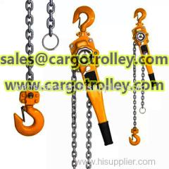 Lever chain hoist advantages and details