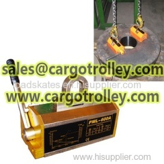 Permanent magnet lifter with 3.5 times safety factor