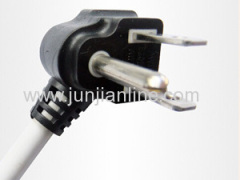 UL 3pin 125V power plug wire