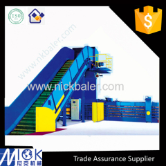 Full automatic baler with PLC waste paper baling machine