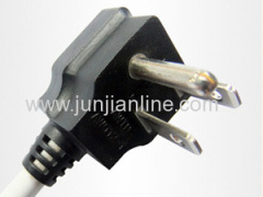 3pin ul power cord with nema 5-15p power plug
