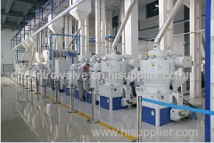 complete rice milling line