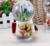 Custom made polyresin glass snow water globe