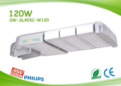 Angle adjustable 120w LED street lights with Philips 3030 2D SMD LED