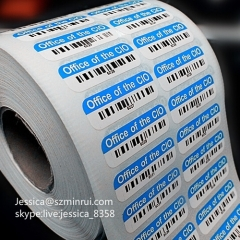 Custom Anti-theft Barcode Label Do Not Remove Permanent Adhesive Sticker Breakable Paper Barcode Sticker Roll