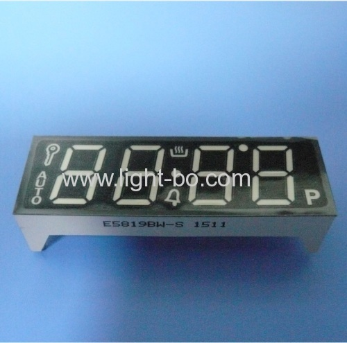 Custom Ultra white common anode 4 digit 0.56  7 segment led display for oven timer control