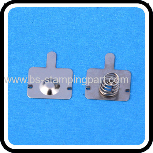 Spring steel battery spring contact