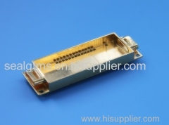 hybride package glass component gold plating