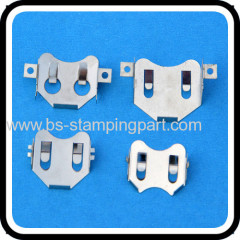SMT CR2032 battery holder in stainless steel material