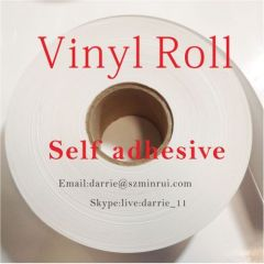 China best self adhesive warranty sticker material factory Minrui hotsale destructible vinyl jumbo rolls and sheets.