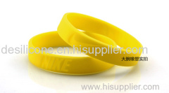 OEM design various ultra soft texture silicone bracelet