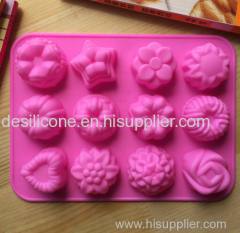 Silicone molds for baking New design dog Paws Bone shape silicone chocolate mold/silicone cake mold silicone candy mo