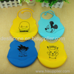 2015 high quality various designs silicone baby bibs