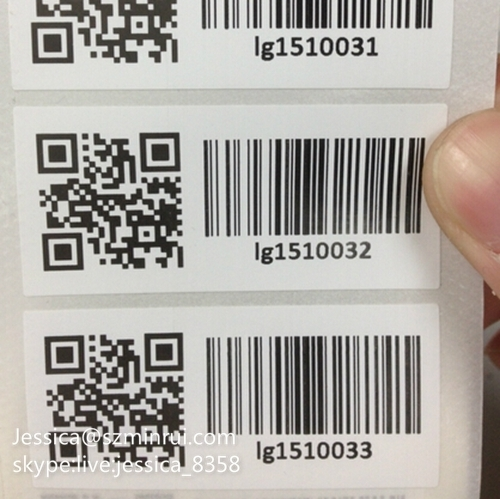Top quality custom various design breakable paper printing security tamper proof barcode sticker qr code labels
