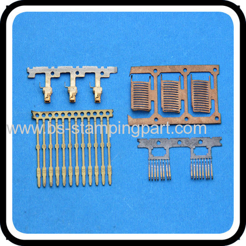 PCB solder precise brass terminal