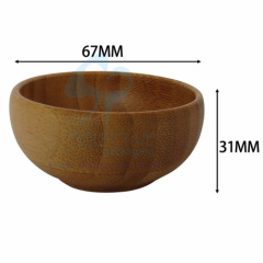 bamboo mask bowl with spoon