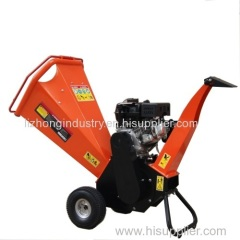 6.5hp honda engine 100mm chipping capcity wood chipper shredder