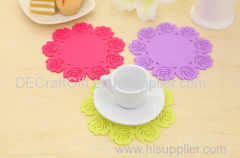heat resistant silicone cup mat silicone cup pad coaster silcone