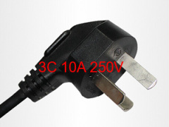 3C10A 250V Chinese-style three power plug wire