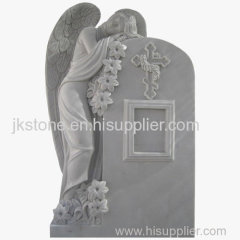 White Marble Weeping Angel Tombstones and Monum ents
