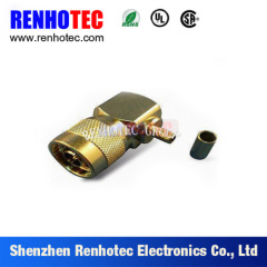Gold Plated N Type Male Connector Crimp for Cable RG58