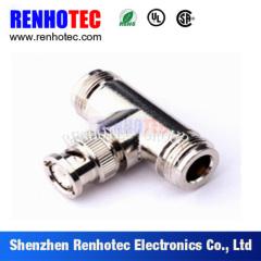 RF Adaptor BNC Plug To Two N Type Jack Connector