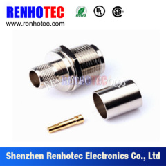 180 Degree N Type Female Clamp Connector