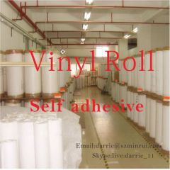 China top factory of tamper evident Ultra Destructible self adhesive vinyl Eggshell sticker material jumbo rolls