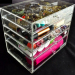 Acrylic Plastic Cube Crystal Skin Care Cosmetic Organizer