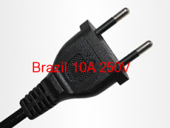 Strong Brazil AC power cord 2.5A power cord