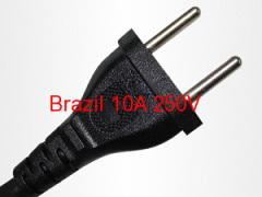 Brazil AC Power Plug to IEC C13 Power Cord