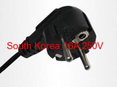 straight Korea PVC power cord