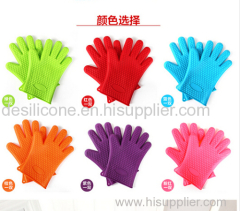 kitchen silicone cook gloves heat resistent heat resistance oven gloves microwave heated gloves