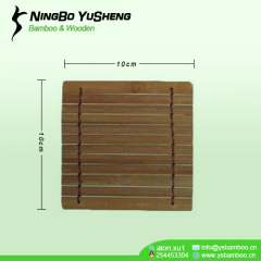 Handmade Square Bamboo Cup Coasters brown color