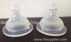 Silicone safety baby bottle nipple