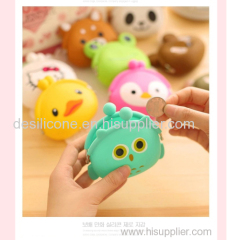 Wholesale Cheap small cartoon shaped silicone coin purse