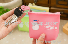 custom rubber silicone wallet & silicone change purse/fashion silicone coin pouch