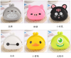 2015 Hot Selling Candy Color Soft Jelly Silicone Coin Purse & Multi-Purpose Pouch Combo Set