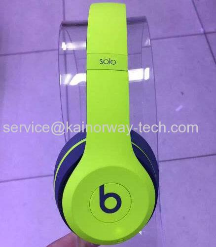 Beats Solo2 Wireless Headphones Active Collection Shock Yellow From