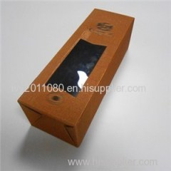 Windowed Corrugated Wine Box