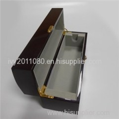 Hinged Lock Wood Wine Box