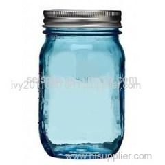 Blue Glass Mason Jars
