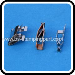 Stamping copper soldering spring clip