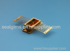 hybrid package of gold plating