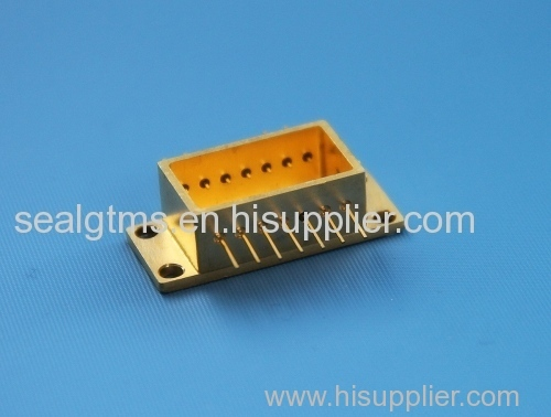 connector multi pins glass for sensor