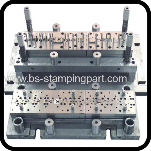 Mould of metal stamped PCB terminals
