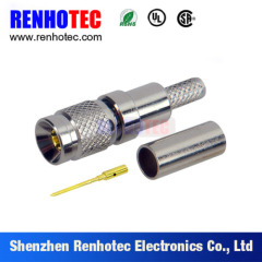 1.0/2.3 Male Crimp RG187 Cable Connector