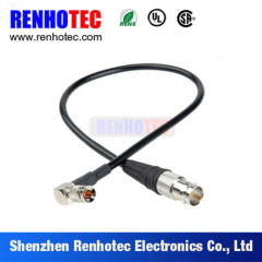Right Angle 1.0/2.3 Plug to Straight BNC Jack RF Connector
