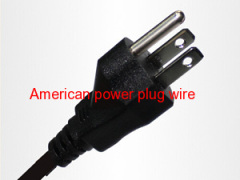 Factory direct American black power plug wire