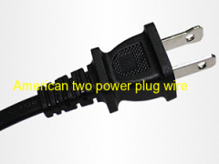 UL 2pin power cord Black 2.5A extension cable